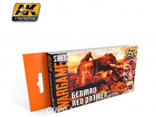 Ak Interactive Set peinture Wargame AK1124 Rouge primer Allemand 6 x 17ml