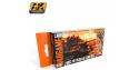 Ak Interactive Set peinture Wargame AK1553 Vert Russe 4BO 6 x 17ml
