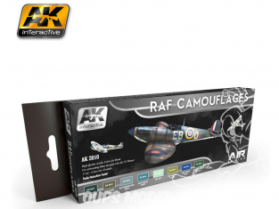 Ak Interactive Set peinture Air Series AK2010 Camouflages RAF - Royal Air Force 8 x 17ml