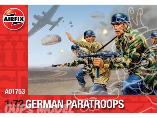 Airfix maquette militaire 01753 parachutistes Allemand 1/72