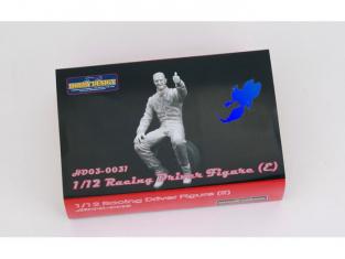 HOBBY DESIGN Kit resine 03-0031 Figurine pilote assis 1/12