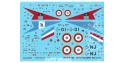 DECALQUES BERNA DECALS BD72-110 Dassault Mirage IIIC 5em Escadre 1/72