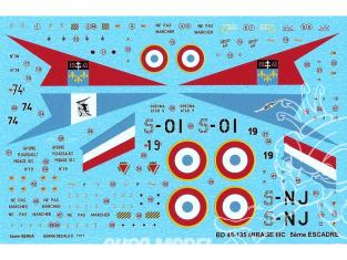 DECALQUES BERNA DECALS BD48-135 Dassault Mirage IIC 5em Escadre 1/48