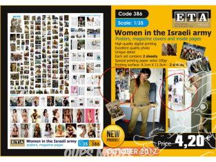 ETA diorama 386 Femmes dans l'armée Israélienne poster pages de magazines 1/35