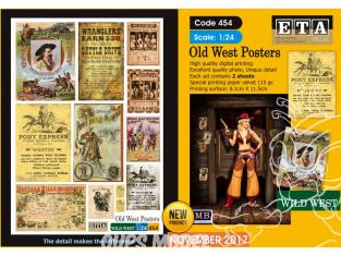 ETA diorama 454 Posters du vieil ouest 1/24
