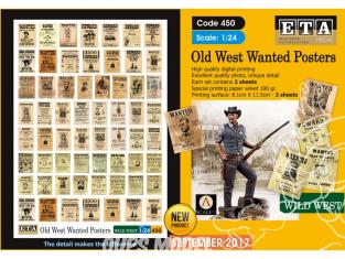 ETA diorama 450 Affiches Wanted du vieil ouest 1/24
