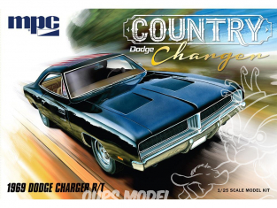 """MPC maquette voiture 878 Dodge """"Country Charger"""" R/T 1969 1/25"""