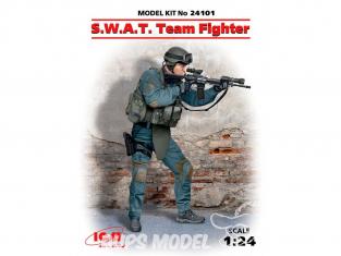 Icm maquette voiture 24101 Figurine du S.W.A.T 1/24