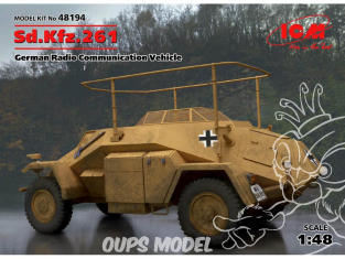 Icm maquette militaire 48194 Sd.Kfz.261 Vehicule radio allemand 1/48