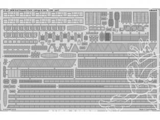 Eduard photodecoupe bateau 53207 DKM Graf Zeppelin Pt.4 Rambardes & Filets Trumpeter 1/350