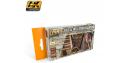 Ak Interactive Set peinture AK562 Bois ancien et patiné Vol. 1 Couleurs chaudes  6 x 17ml