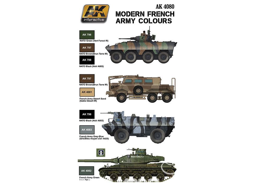 AK Peinture Acrylique Set moderne armée française Couleurs
