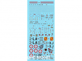 DECALQUES Dassault Mirage IIIE Part 1 1/72 BERNA DECALS BD72-111