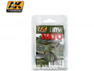 Ak Interactive Set Weathering AK073 Vieillissement OTAN - NATO 3 x 35ml