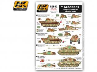 AK interactive ak802 Decalques pour Chars Allemands - Ardennes 1944-45 1/35