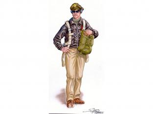 Pilote Americain d'un P-51 WWII Plus Model Diorama AL4072 1/48
