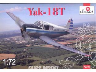 YAKOVLEV YAK-18T Amodel maquettes avion 1/72 72303