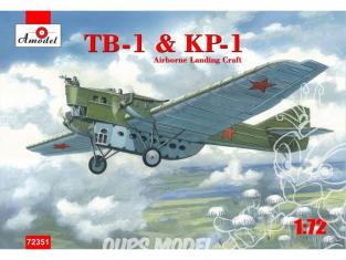 TB-1 et KP-1 MODULE PARACHUTISTES 1/72 Amodel maquettes avion 72351
