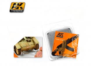 AK interactive ak230 Chaine de remorquage rouillée - Moyen modèle