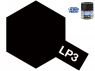 Peinture laque couleur Tamiya LP-3 Noir mat 10ml