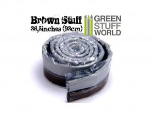 Green Stuff 367238 Résine Brune en bande 93 cm 36.5 pouce