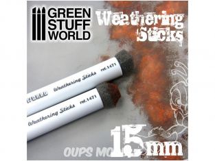 Green Stuff 368112 Pinceaux pour Weathering 15mm