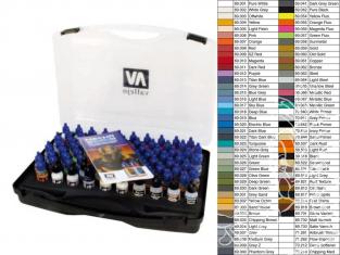 Vallejo Malette Couleurs Mechas 69990 Couleurs pour Mechas - Gundan 80 x 17ml