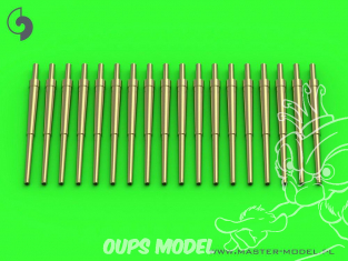 Master Model SM-700-056 Canons Britanniques 4.5in/45 (11,4cm) QF Marks I, III & IV x18 1/700