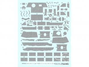 Meng accessoires diorama SPS-052 Set de decalques ZIMMERIT pour SdKfz 171 Panther Ausf.A type 3 1/35