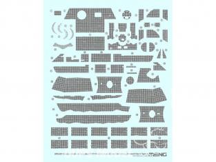 Meng accessoires diorama SPS-051 Set de decalques ZIMMERIT pour SdKfz 171 Panther Ausf.A type 2 1/35