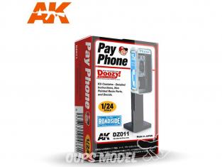 Ak Interactive Doozy DZ011 Cabine téléphonique 1/24