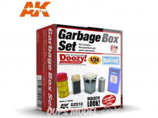 Ak Interactive Doozy DZ010 Set de poubelles 1/24