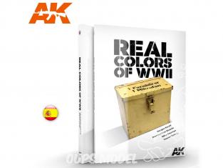 Ak Interactive livre AK188 Real Colors WWII - Couleurs réelles en Espagnol