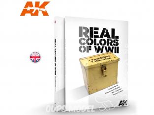 Ak Interactive livre AK187 Real Colors WWII - Couleurs réelles en Anglais