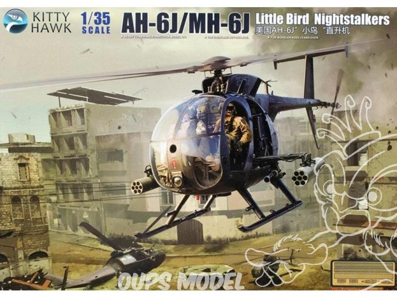 "Kitty Hawk maquette hélicoptère kh50003 AH-6J/MH-6J ""LITTLE BIRD NIGHTSTALKERS"" SOMALIE (Mogadiscio) 1993 1/48"