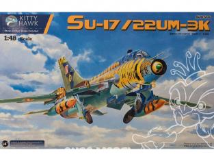 SUKHOI Su-17 / Su-22 UM3K/UM4 FITTER G 1/48 Kitty Hawk maquette avion 80147