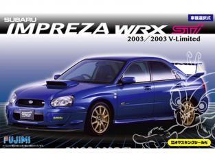 FUJIMI maquette voiture 039404 Subaru Impreza WRX STI V-Limited 2003 1/24
