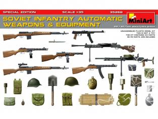 Mini Art maquette militaire 35268 ARMES ET EQUIPEMENTS AUTOMATIQUES INFANTERIE SOVIETIQUE 1/35
