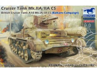 Bronco maquette militaire CB35151 Char britanique CRUISER TANK A10 Mk. IA/IA CS Campagne Grèce 1941 1/35