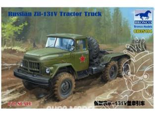 Bronco maquette militaire CB35194 RUSSIAN ZIL-131V TRACTOR TRUCK 1985 1/35
