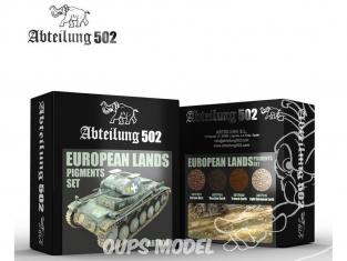 Abteilung 502 set de pigments abt408 Set Terres Européennes