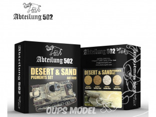Abteilung 502 set de pigments abt409 Set Desert & Sable