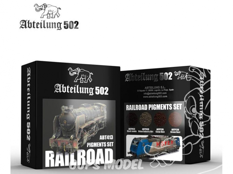 Abteilung 502 set de pigments abt413 Set Chemin de fer / Train