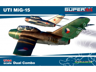 EDUARD maquette avion 4444 UTI MiG-15 Super44 Dual Combo 1/144