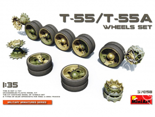 Mini Art maquette accessoires militaire 37058 Set de roues pour char T-55 T-55A 1/35