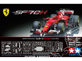 TAMIYA maquette voiture 20068 Ferrari SF70H 1/20
