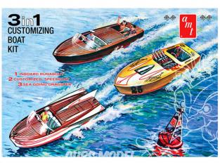 AMT maquette bateau 1056 bateau (3-en-1) 1/25