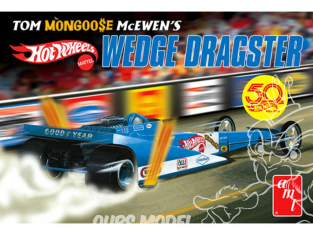 """AMT maquette voiture 1069 Tom """"Mongoose"""" McEwen Fantasy Wedge Dragster (Hot Wheels) 1/25"""