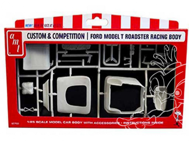 """AMT maquette voiture PP009 Ford Racing """"T"""" Body 1/25"""