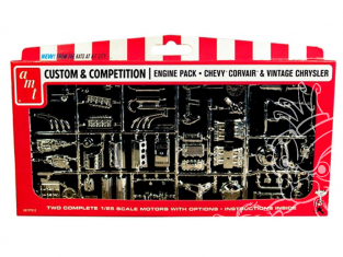 AMT maquette voiture PP010 Chrysler et Chevy Corvair Motors Pack de pieces 1/25